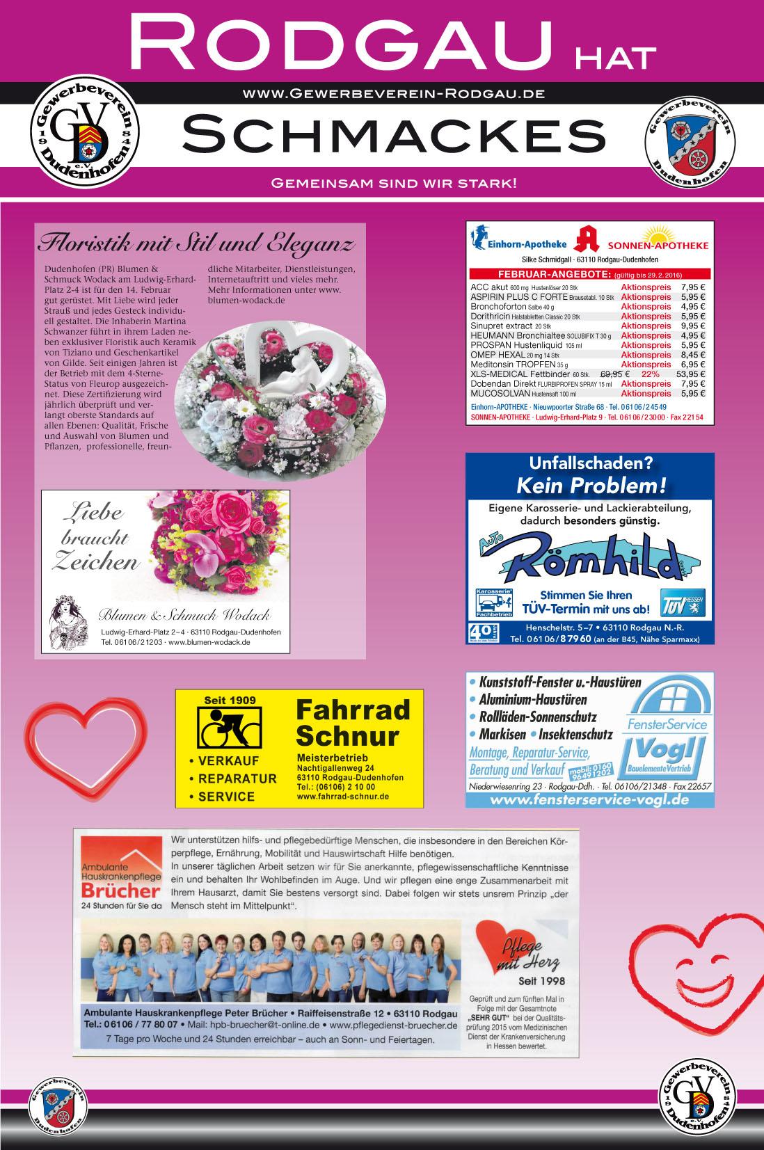 Rodgau Hat Schmackes Zeitungsanzeige Und Werbung Vom Gewerbeverein