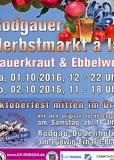 01.+2.10.2016 - Rodgauer Herbstmarkt à la Sauerkraut und Eppelwoi