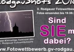 """Rodgauer Fotowettbewerb """"Rodgau Shots 2018"""""""