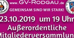 23.10.2019 Außerordentliche Mitgliederversammlung